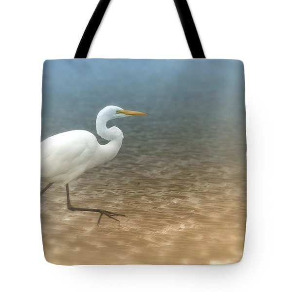 Egret Stroll Tote Bag by Karol Livote