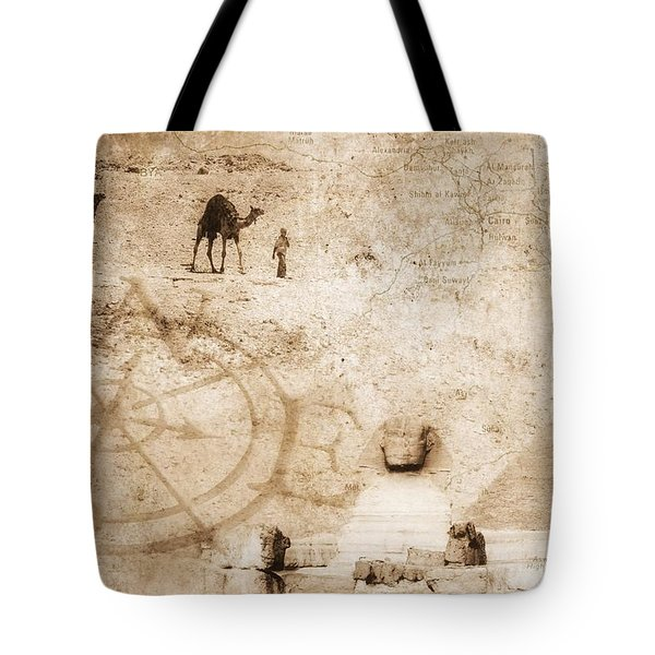 Egyptian Collage Tote Bag by Chris Knorr