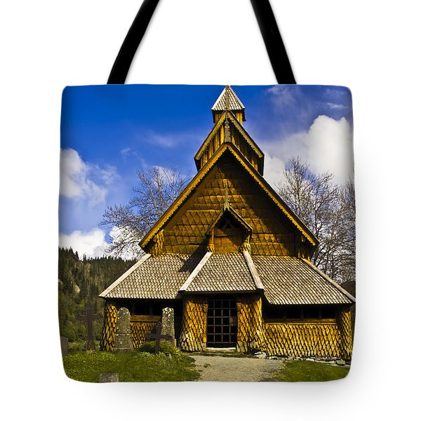 Eidsborg Stave Church  Tote Bag by Heiko Koehrer-Wagner