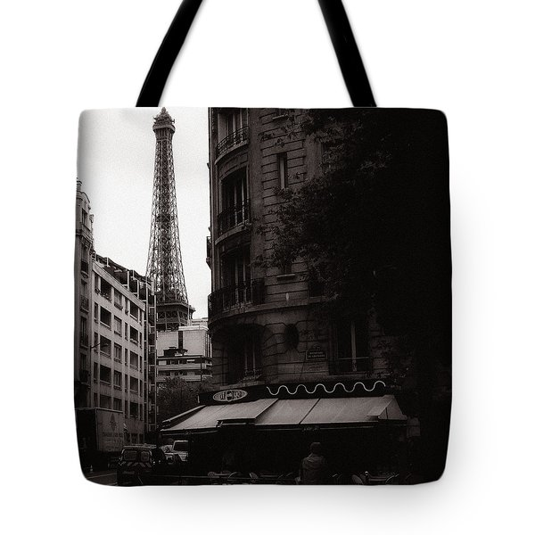Eiffel Tower Black and White 2 Tote Bag by Andrew Fare