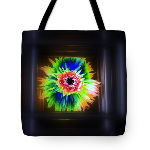 Electric Flower Tote Bag by Marcia Lee Jones