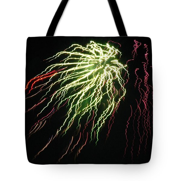 Electric Jellyfish Tote Bag by Rhonda Barrett