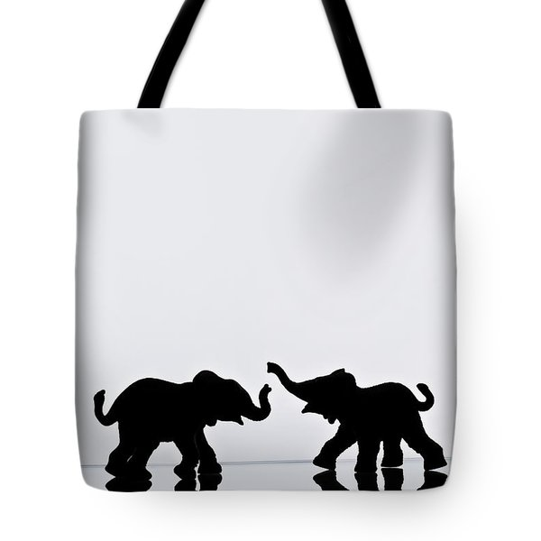 Elephant Pair Reflection Tote Bag by Chris Knorr
