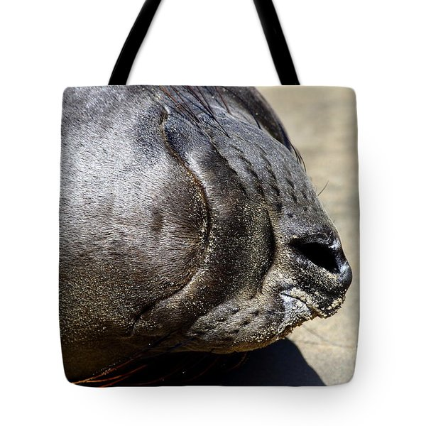 Elephant Seal Snout . 7d16085 Tote Bag by Wingsdomain Art and Photography