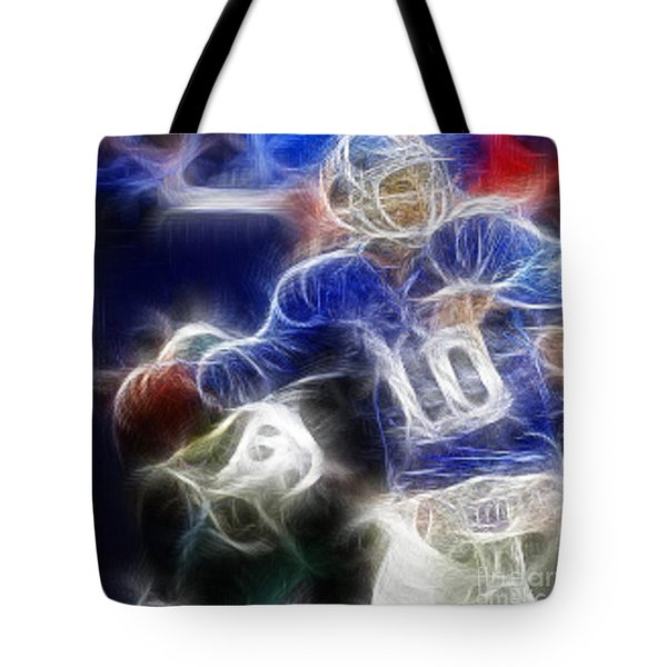 Eli Manning NY Giants Tote Bag by Paul Ward