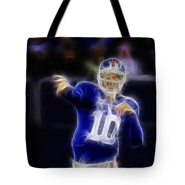 Eli Manning Tote Bag by Paul Ward
