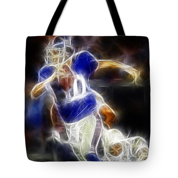 Eli Manning Quarterback Tote Bag by Paul Ward