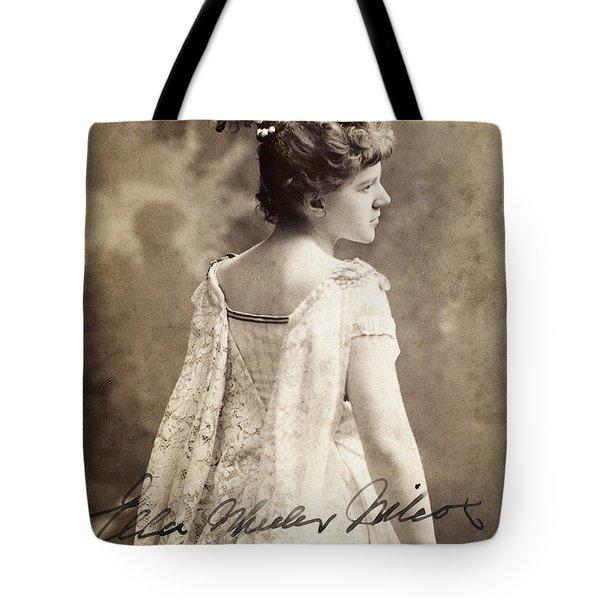Ella Wheeler Wilcox Tote Bag by Granger