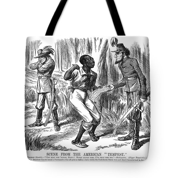 Emancipation Cartoon, 1863 Tote Bag by Granger