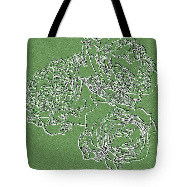 Embossed Roses Tote Bag by Will Borden