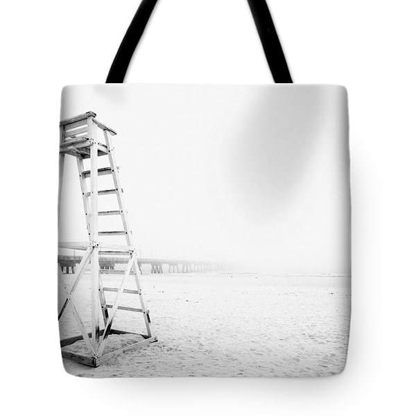 Empty Life Guard Tower 2 Tote Bag by Skip Nall
