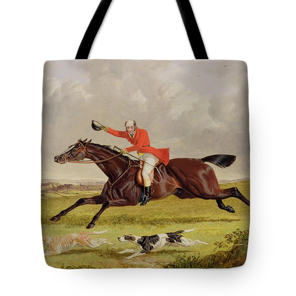 Encouraging Hounds Tote Bag by John Frederick Herring Snr