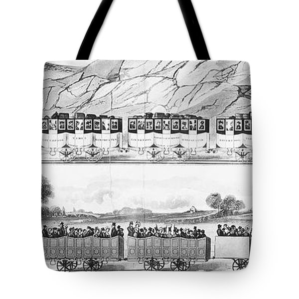 England: Railroad Travel Tote Bag by Granger