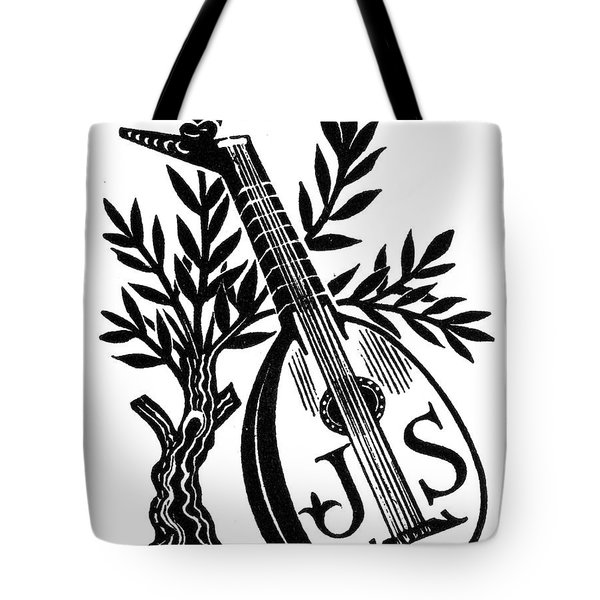 English Bookplate Tote Bag by Granger