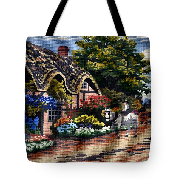 English Tapestry Tote Bag by Kaye Menner