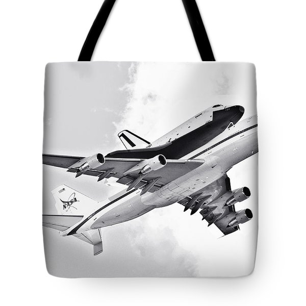 Enterprise Shuttle Piggyback Ride Tote Bag by Regina Geoghan