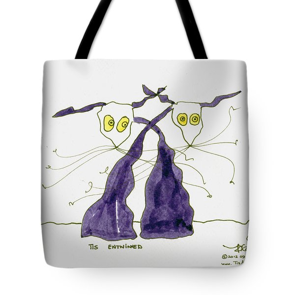 Entwined Tote Bag by Tis Art