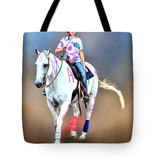 Equestrian Competition II Tote Bag by Tom Schmidt