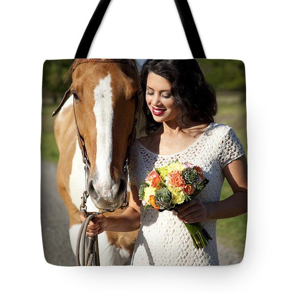 Equine Companion Tote Bag by Sri Maiava Rusden