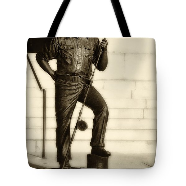 Ernest Hemingway The Old Man And The Sea Tote Bag by Bill Cannon
