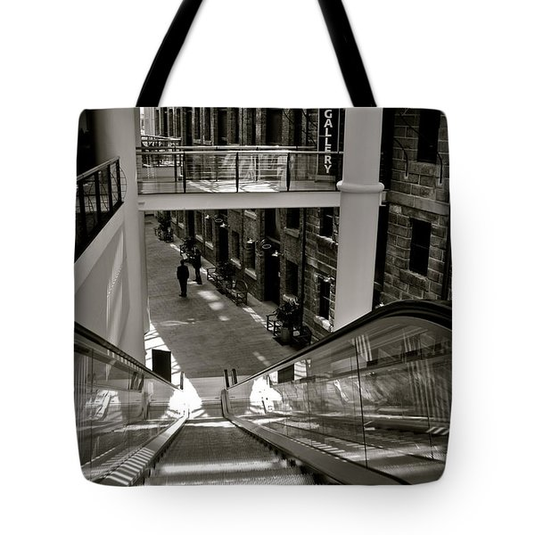 Escalator Going Down In Sydney Tote Bag by Kirsten Giving