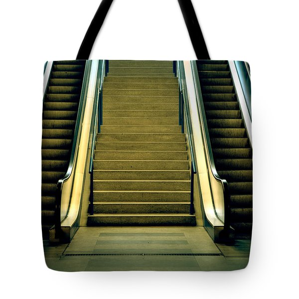 Escalators And Stairs Tote Bag by Joana Kruse