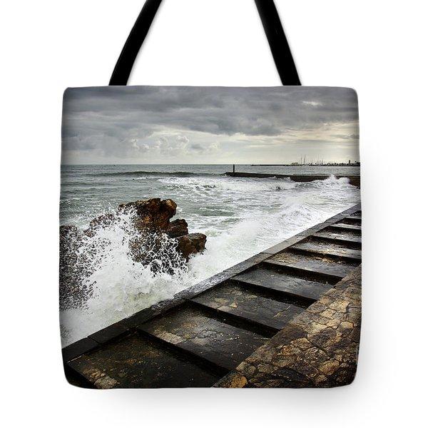 Estoril Coastline Tote Bag by Carlos Caetano
