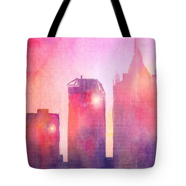 Ethereal Skyline Tote Bag by Arline Wagner