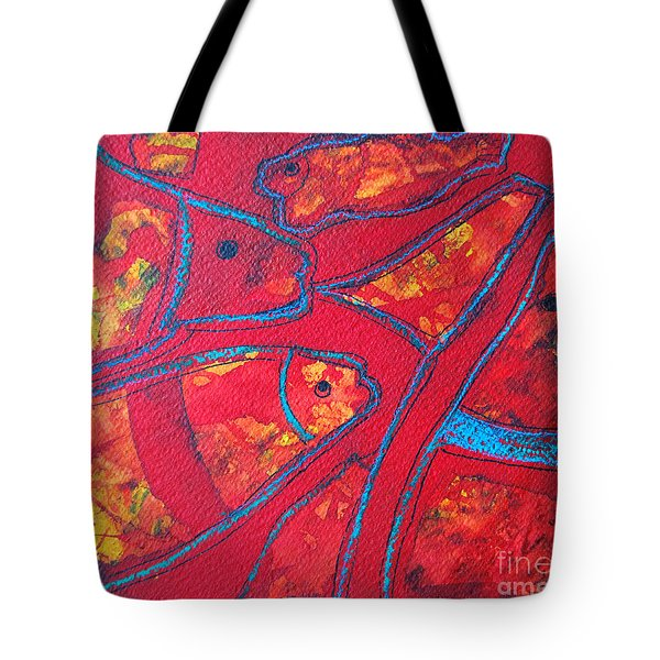 Even Fishes Love Red Tote Bag by Ana Maria Edulescu