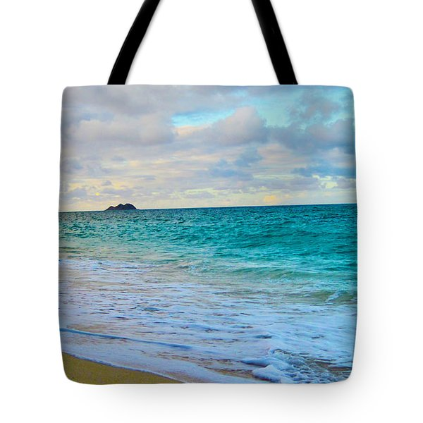Evening on the Beach Tote Bag by Cheryl Young
