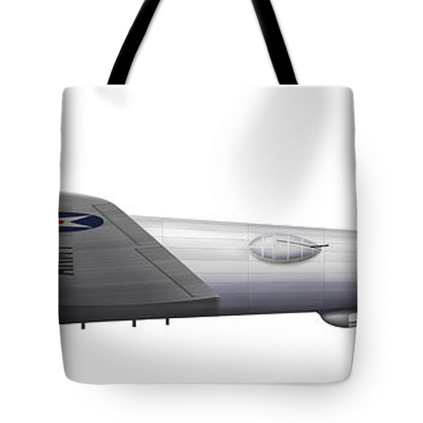 Experimental Boeing Xb-15 Bomber Tote Bag by Chris Sandham-Bailey