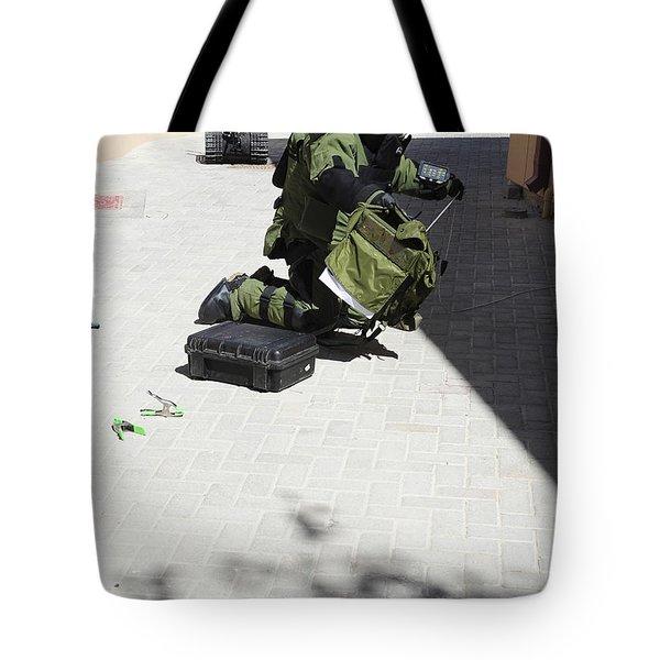 Explosive Ordnance Disposal Technician Tote Bag by Stocktrek Images