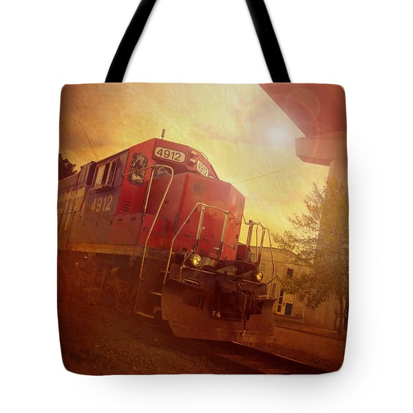 Express Train Tote Bag by Joel Witmeyer