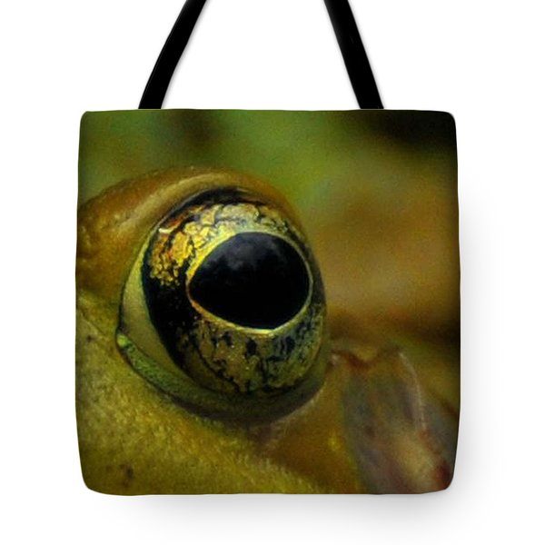 Eye Of Frog Tote Bag by Paul Ward