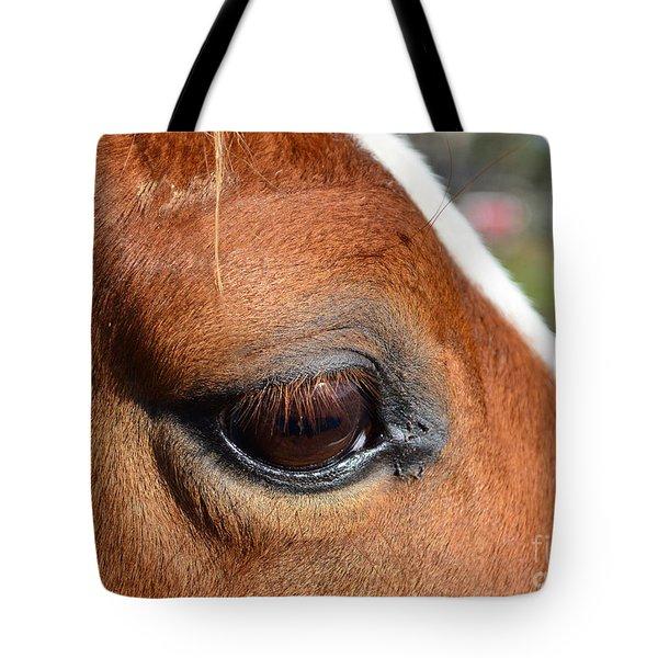 Eye Of The Horse Tote Bag by Sandi OReilly