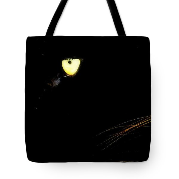 Eye of the Panther Tote Bag by KAREN WILES