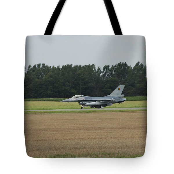 F-16 Of The Belgian Air Force Ready Tote Bag by Luc De Jaeger