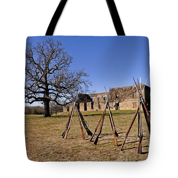 F O R T   W A S H I T A Tote Bag by Charles Dobbs