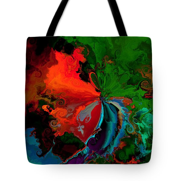 Faa Abstract 3 Invasion Of The Reds Tote Bag by Claude McCoy