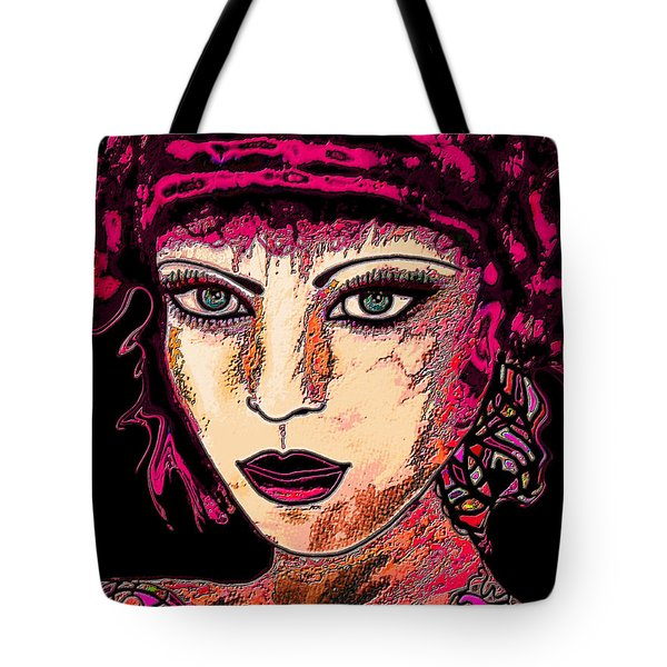 Face 13 Tote Bag by Natalie Holland