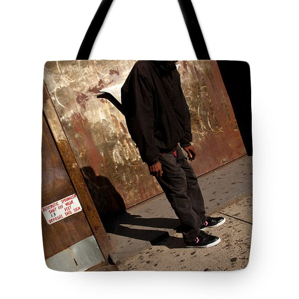 Faceless Tote Bag by Karol Livote