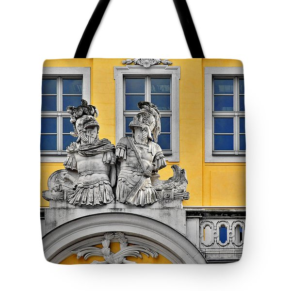 Faces Of Places In Dresden Tote Bag by Christine Till