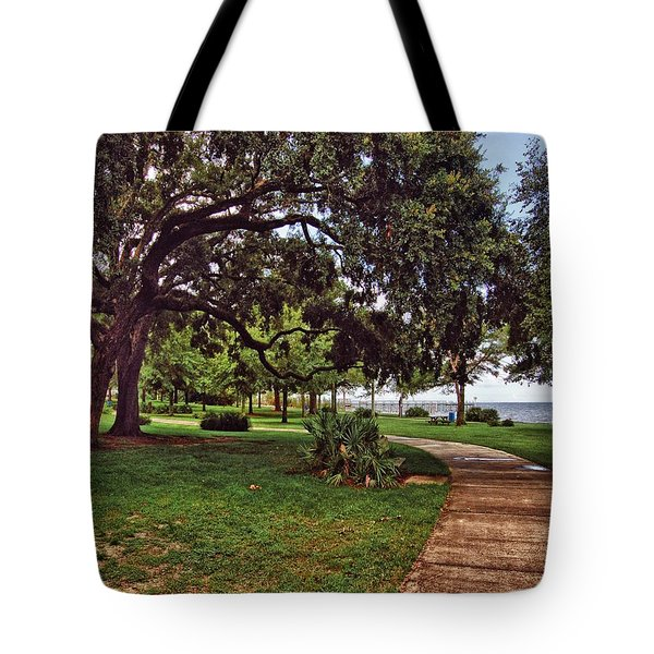 Fairhope Lower Park 2 Tote Bag by Michael Thomas