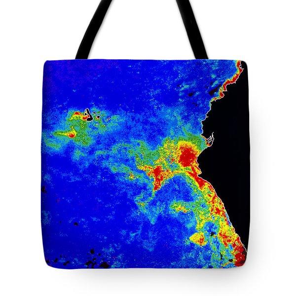 Fal-col Satellite Image Of Coastal Tote Bag by Dr. Gene Feldman, NASA Goddard Space Flight Center