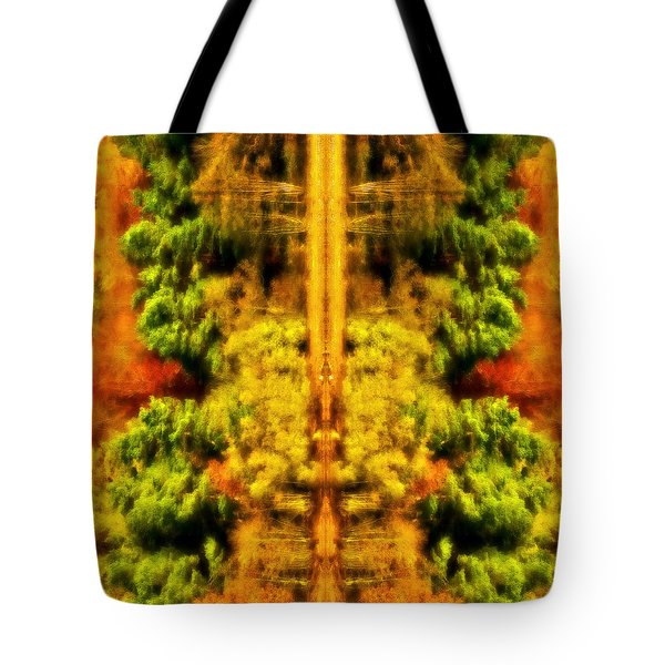 Fall Abstract Tote Bag by Meirion Matthias