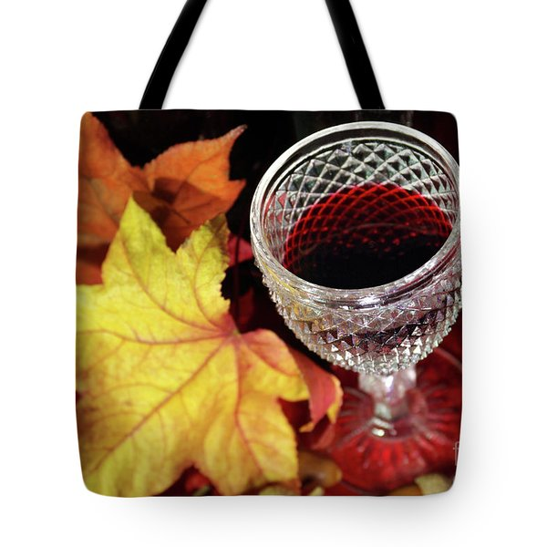 Fall Red Wine Tote Bag by Carlos Caetano