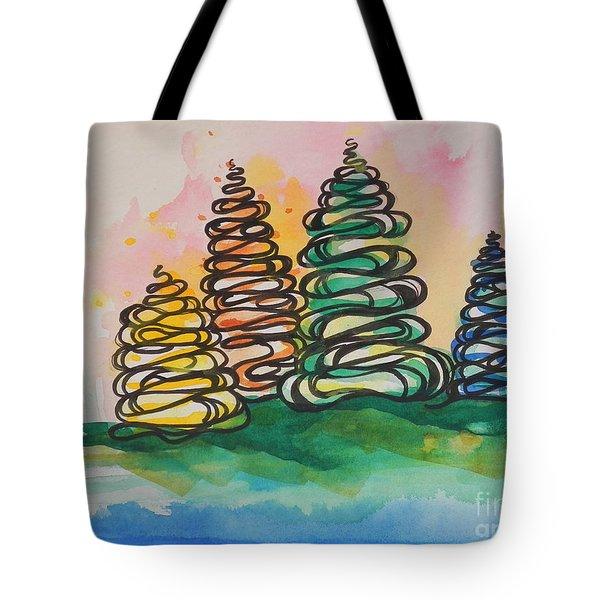Fall Season ..swirling In... Tote Bag by Chrisann Ellis