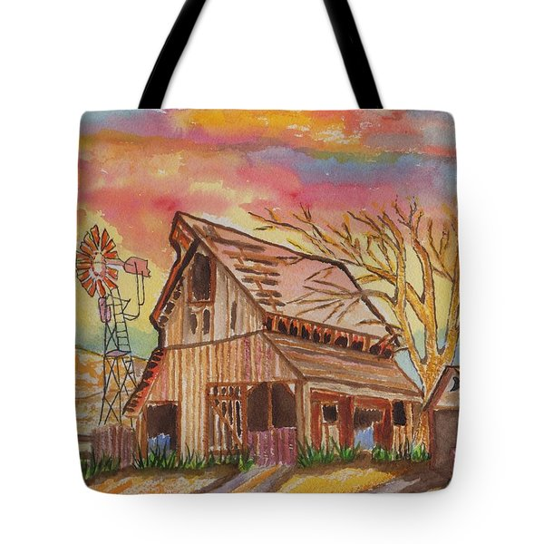 Fall Storms Coming Tote Bag by Connie Valasco