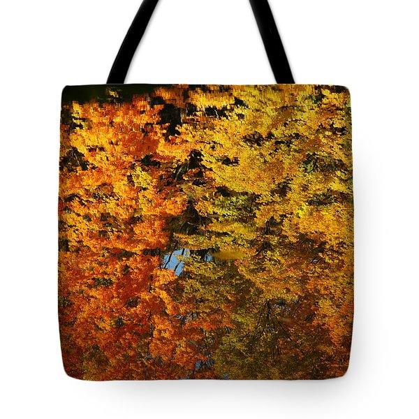 Fall Textures In Water Tote Bag by LeeAnn McLaneGoetz McLaneGoetzStudioLLCcom