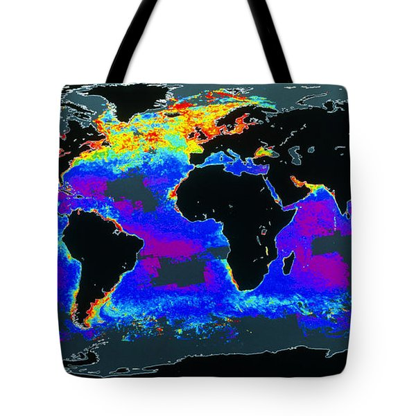 False-col Satellite Image Of Worlds Tote Bag by Dr. Gene Feldman, NASA Goddard Space Flight Center